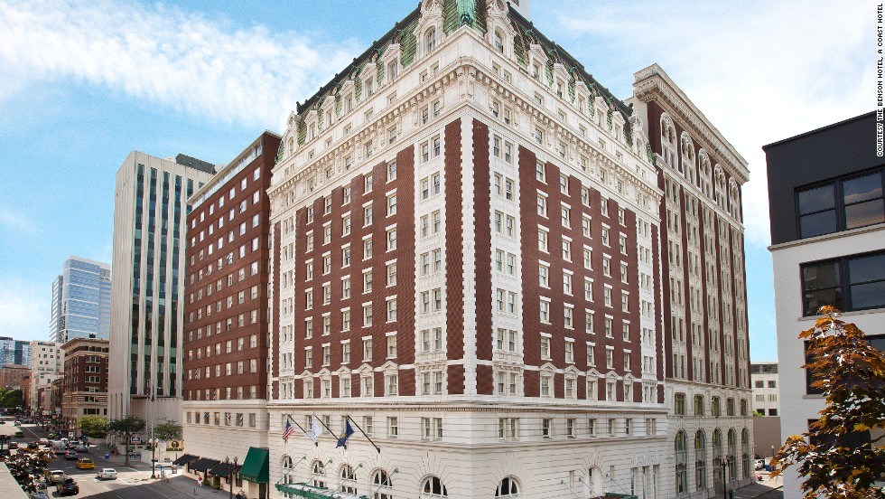 The Benson Hotel in Portland, Oregon, opened March 5, 1913.