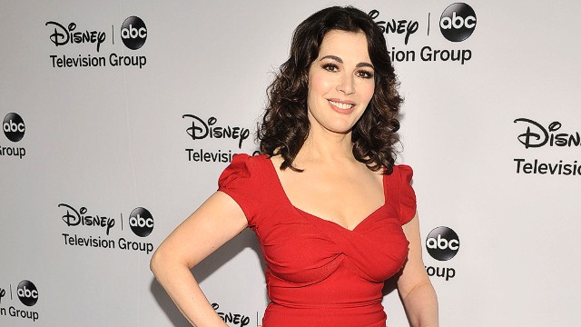 "FILE image of Nigella Lawson - PASADENA, CA - JANUARY 10: Nigella Lawson arrives for the Disney ABC Television groups ""2013 Winter TCA Tour"" event at The Langham Huntington Hotel and Spa on January 10, 2013 in Pasadena, California. (Photo by Toby Canham/Getty Images)"