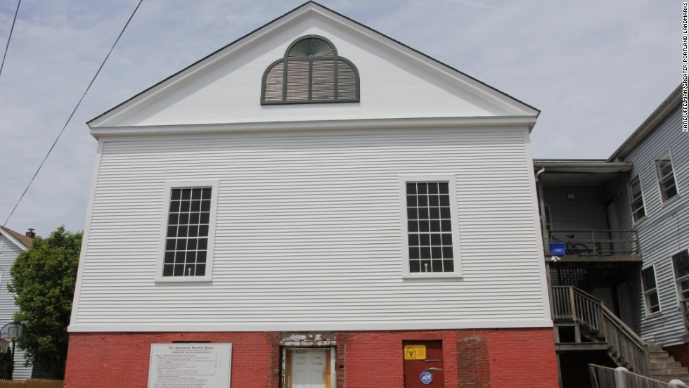 The Abyssinian Meeting House in Portland, Maine, was the spiritual center for the city's African-American community for generations.