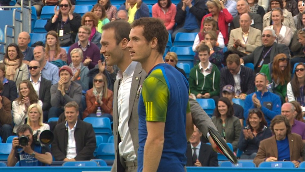 Hutchins and Murray both appeared at the Rally Against Cancer, where the Scot donated his $115,000 tournament winner's prize to charity.
