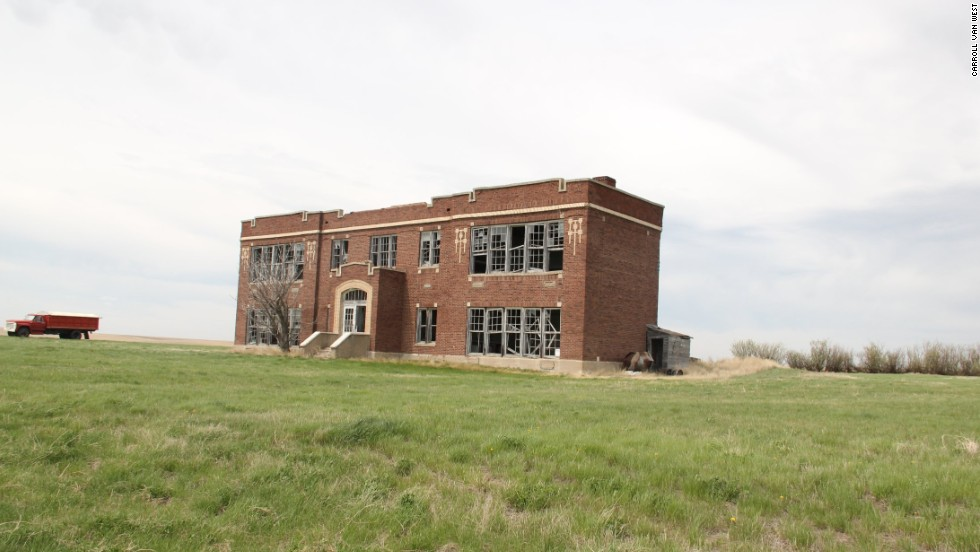 Montana's historic schoolhouses are at risk as the state's population shifts to the urban centers. The Glentana School in Valley County is shown here.