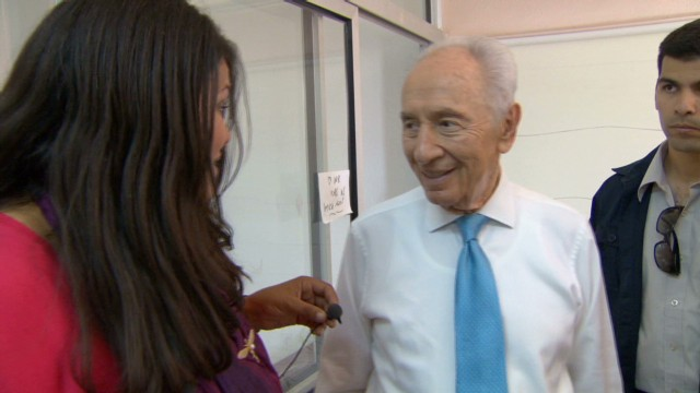 Keeping pace with Shimon Peres
