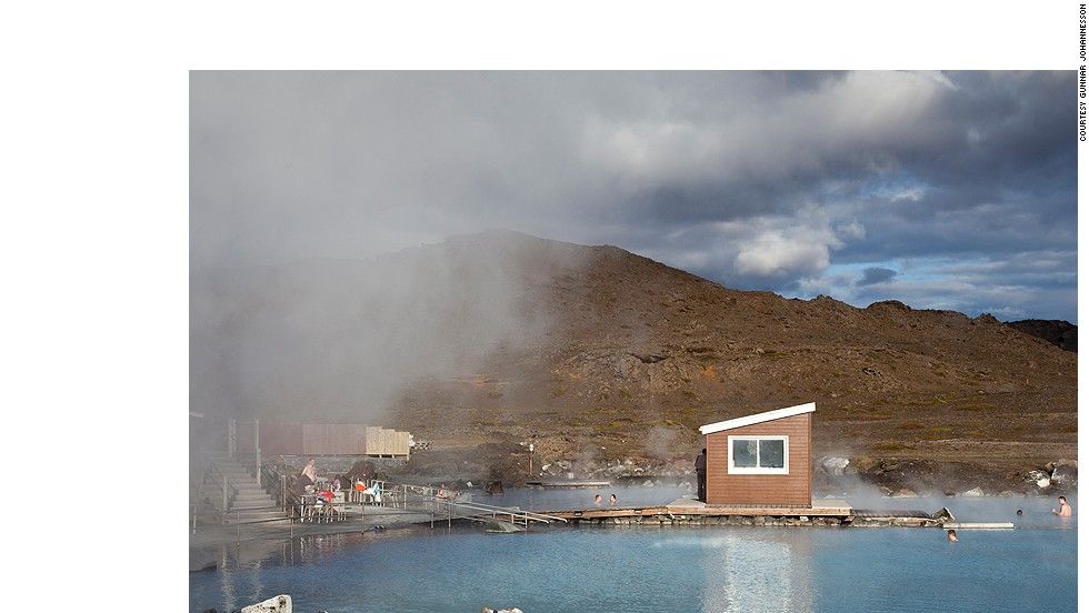 Enjoy the warm waters of Myvatn Nature Spa in Northern Iceland.
