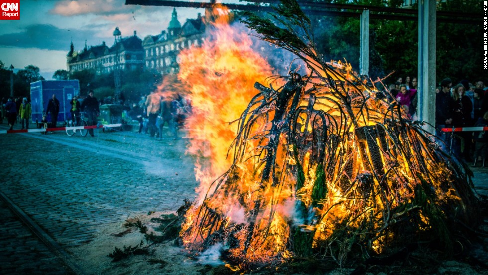 "In Denmark it's common to have big bonfires during summer solstice. Londoner <a href=""http://ireport.cnn.com/people/mdneedham"" target=""_blank"">Mitchel David Needham</a> attended the Danish 'Sankt Hans Aften' in 2011. ""Whilst the bonfire was burning, several bands performed, a lot of families played games with their children around the fire and young people were drinking and generally having a great time!"""