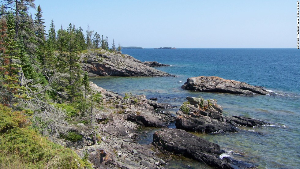 The trails in and around Rock Harbor and the eastern end of the park offer the most variety of any on Isle Royale. Stoll Trail winds back and forth between the forest and the craggy shoreline. The trail is named for journalist Albert Stoll, who campaigned to get the island's<strong> </strong>preserved status.