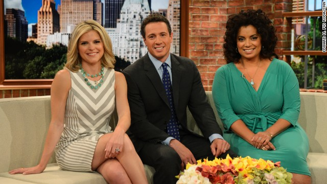 New Day show coverage in New York, New York on June 18th, 2013.  Kate Bolduan, Chris Cuomo and Michaela Periera on set.
