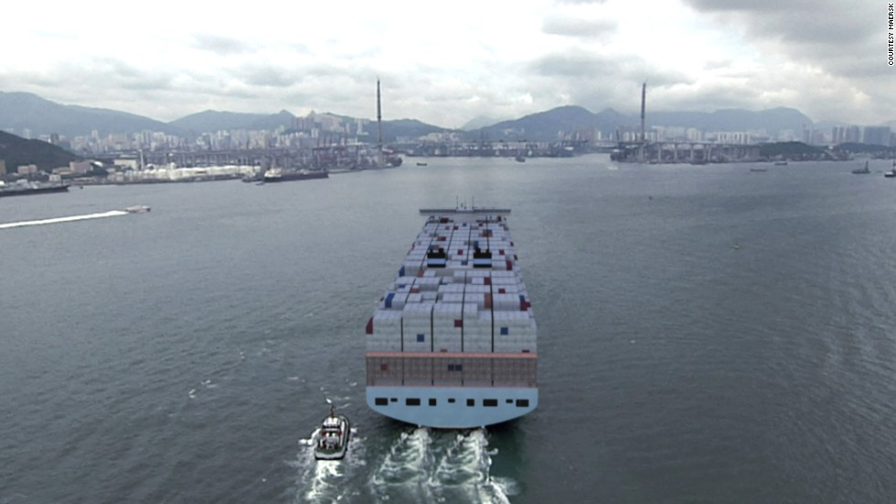 The Triple E is set to travel the AE10 trading route between Asia and Europe, calling at ports in China, Malaysia, Singapore, South Korea, Hong Kong, Morocco, the Netherlands, Germany, Denmark, Sweden and Poland.