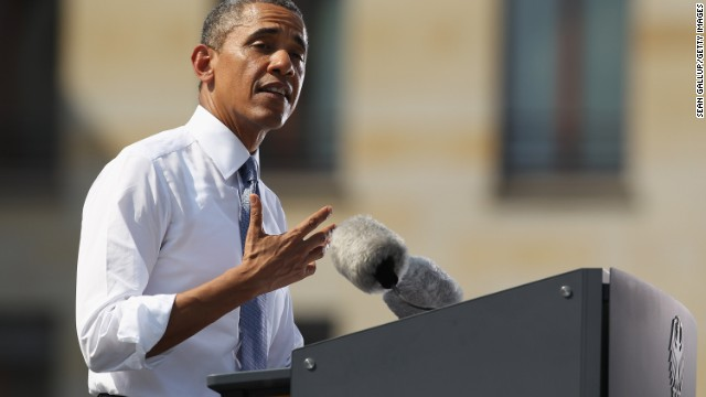 U.S. President Barack Obama speaks at the Brandenburg Gate on June 19, 2013 in Berlin, Germany.