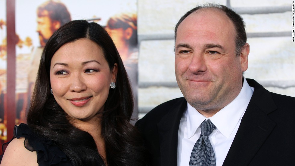"Gandolfini with his wife, Deborah Lin, at the premiere of HBO Films' ""Cinema Verite"" at Paramount Pictures Studio in Los Angeles in 2011."