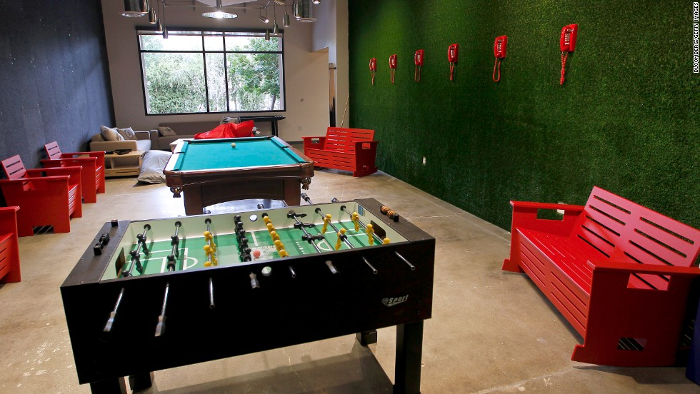 Skype's games room, a common feature for Silicon Valley firms.