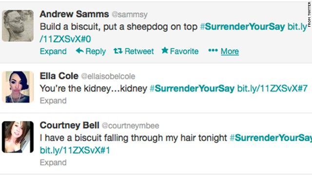 So far more than 6,500 people have agreed to give up their Twitter feeds to Surrender Your Say.