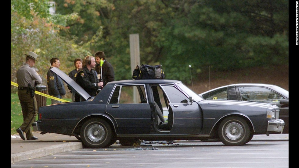 Muhammad and Malvo were captured in this car at a rest stop near Myersville, Maryland, on October 24, 2002.