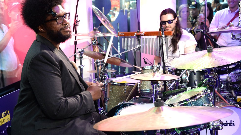 Musician Questlove performs with Andrew W.K. at the 2013 O MusicAwards in New York on June 19.