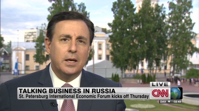 Talking business in Russia