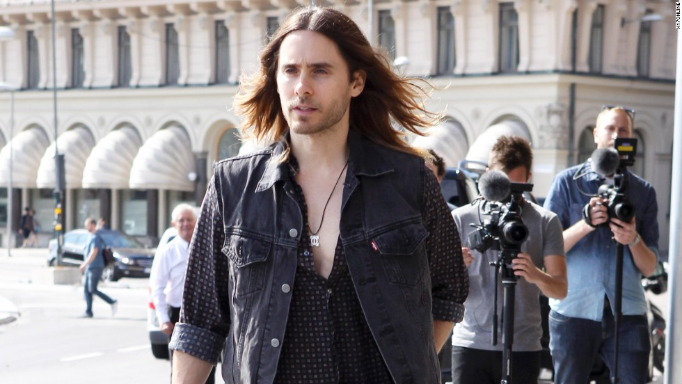 30 Seconds to Mars rocker Jared Leto takes a stroll in Stockholm on June 19.