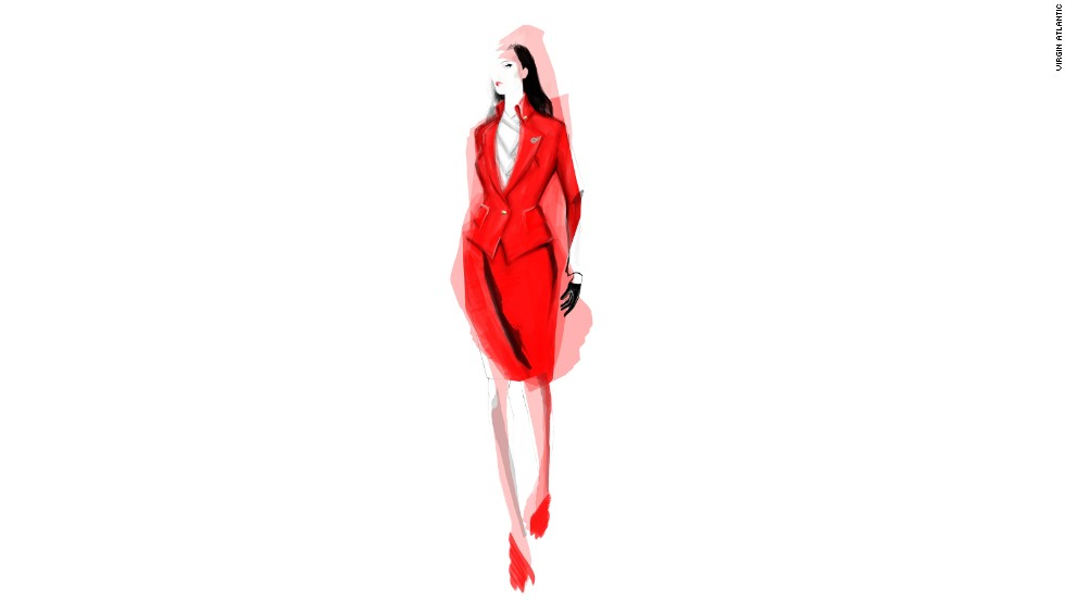 Vivienne Westwood is designing the new uniforms for Virgin Atlantic. Currently, the outfits only exist in sketch form, though cabin crew will start trialing the new designer items next month.