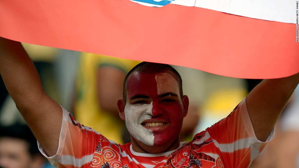 Tahiti had huge support among the 71,000 crowd at the famous Maracana stadium in Rio, from a clutch of their own supporters, as well as the neutral fans who threw their weight firmly behind the underdogs.