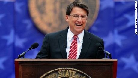McCrory gives his inaugural address on Januray 12.