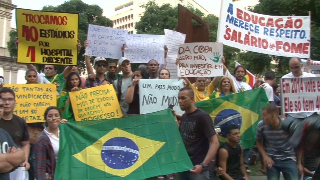 Greivanes unleashed in Brazil protests