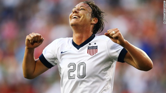 Striker Abby Wambach has scored 160 goals in 207 appearances for the United States.