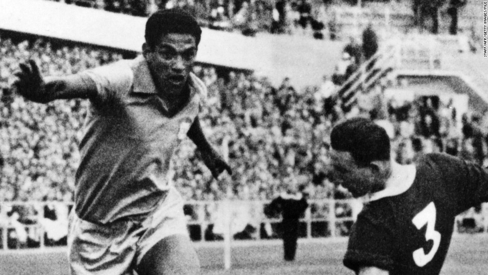 Most football fans would say Argentina's Diego Maradona is the only player who can rival Pele for the title of greatest ever. In Brazil, however, Garrincha is regarded as the only player who comes close to the great man. The tricky winger was a key part of Brazil's World Cup triumphs in 1958 and 1962. Sadly,  Garrincha struggled with alcohol problems and died of liver cirrhosis aged 49.