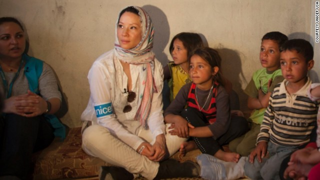 Lucy Liu shares visit to Syrian refugees