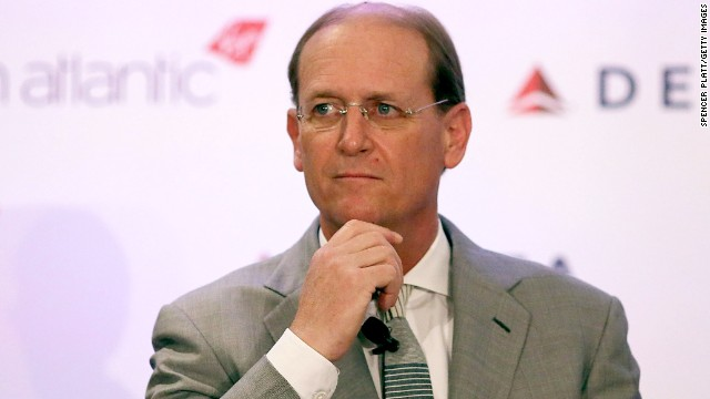 Delta Airlines CEO Richard Anderson, seen here in December 2012,  gets kudos for giving up his seat for a passenger.