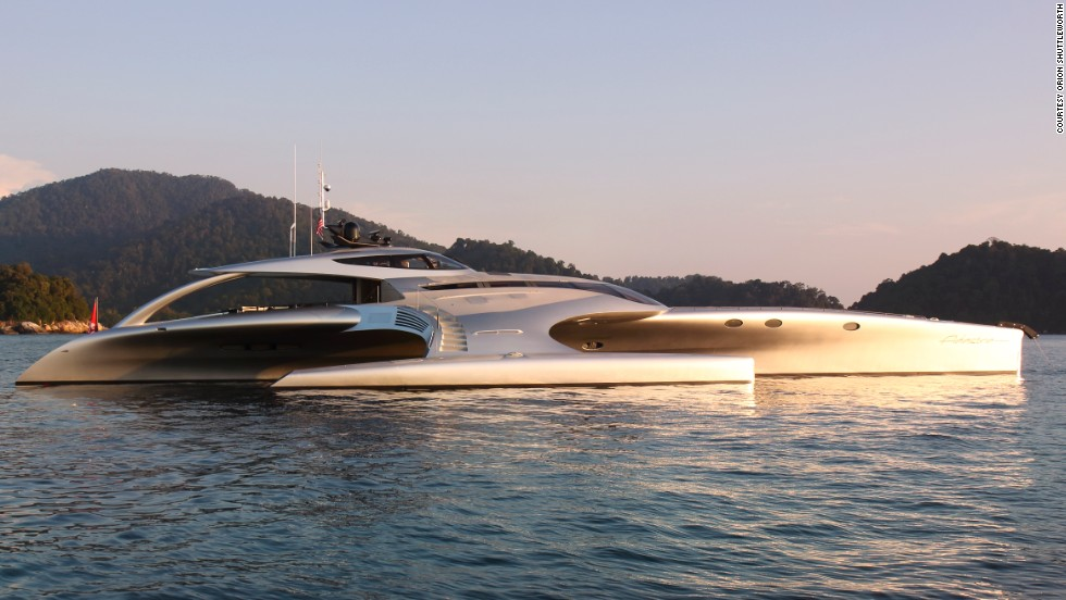 The luxury boat -- valued at $15 million -- has just picked up three prizes, including Best Naval Architecture, at the prestigious ShowBoats Design Awards in Monaco.