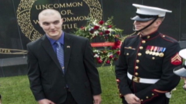 Marines inspired by cancer survivor