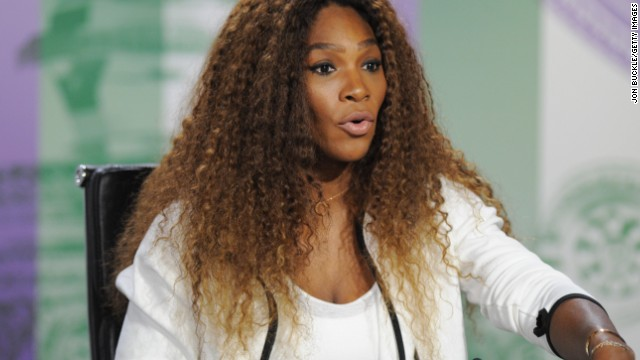 Serena Williams addresses the media ahead of the start of the Wimbledon Championships.