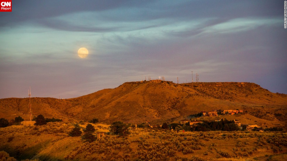 "<a href=""http://ireport.cnn.com/docs/DOC-993732"">Robin Hadder</a> hiked into the foothills of the Boise Mountains in Idaho and used a compass to estimate where the supermoon would rise. ""Looking up and seeing the moon is not a unique experience as a human being, but photos always bring an emotional response. Perhaps it is because of the symbolism of the moon in every culture throughout time. Such a large moon, in frame with landmarks that define a city or region, can be awe-inspiring,"" she said."