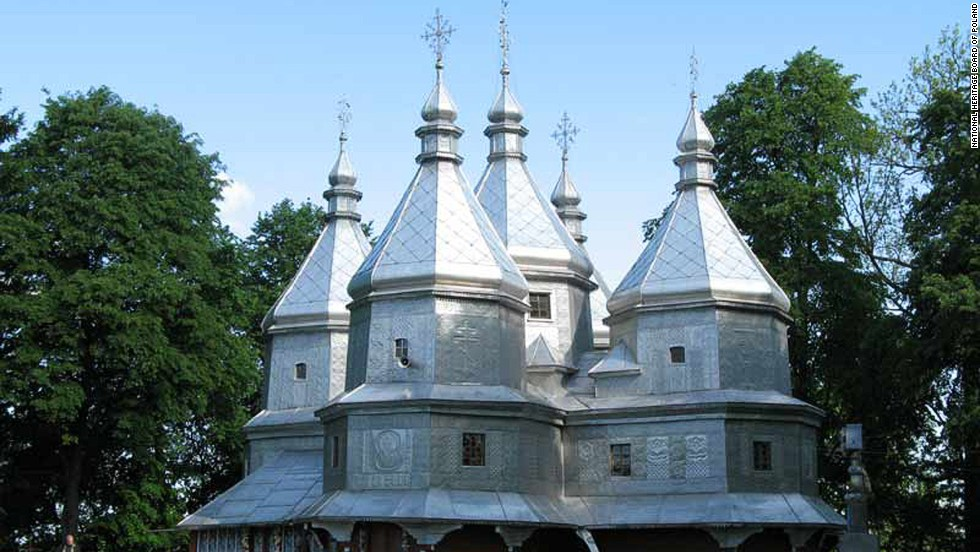 "This transnational property on the fringe of Eastern Europe includes a selection of 16 tserkvas -- churches that were made with wooden logs between the 16th and 19th centuries by communities of the Eastern Orthodox and Greek Catholic faiths. ""The tserkvas bear testimony to a distinct building tradition rooted in Orthodox ecclesiastic design, interwoven with elements of local tradition, and symbolic references to their communities' cosmogony,"" says UNESCO's inscription.<br />"