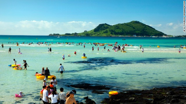 Jeju Island, known as the Hawaii of South Korea, is a popular holiday destination.