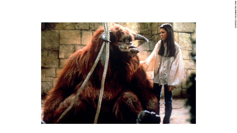 When teenage babysitter Sarah is transported to Labyrinth's strange maze-world (populated by Jim Henson's puppet creations), she is helped by kind-hearted hairy beast <strong>Ludo</strong>, who sees her through the quest to recover her baby brother. The cumbersome puppet was operated by puppeteers underneath the monster suit, who could watch events unfolding on a TV screen inside Ludo's stomach.