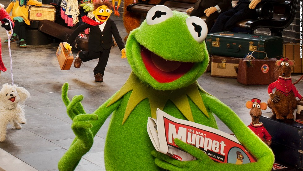 """Originally fashioned from a green ladies coat that Jim Henson found in a bin (plus a pair of ping pong balls for eyes), <strong>Kermit the Frog</strong> has gone on to be one of the world's few internationally recognized puppets -- or, rather, Muppets. He can already count seven hit films, a recording contract, a bestselling autobiography and countless TV appearances among his achievements --and he's set to appear on the big screen again next year in """"Muppets Most Wanted."""""""