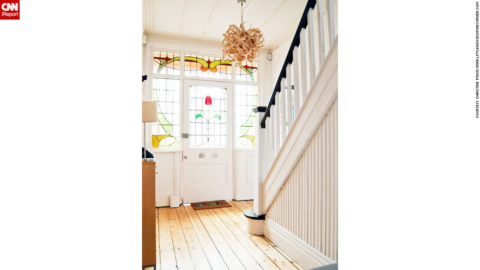"""<a href=""""http://ireport.cnn.com/docs/DOC-993393"""">Christine Price</a> put 250 hours of hard work into the staircase of her Edwardian home in Manchester, England."""