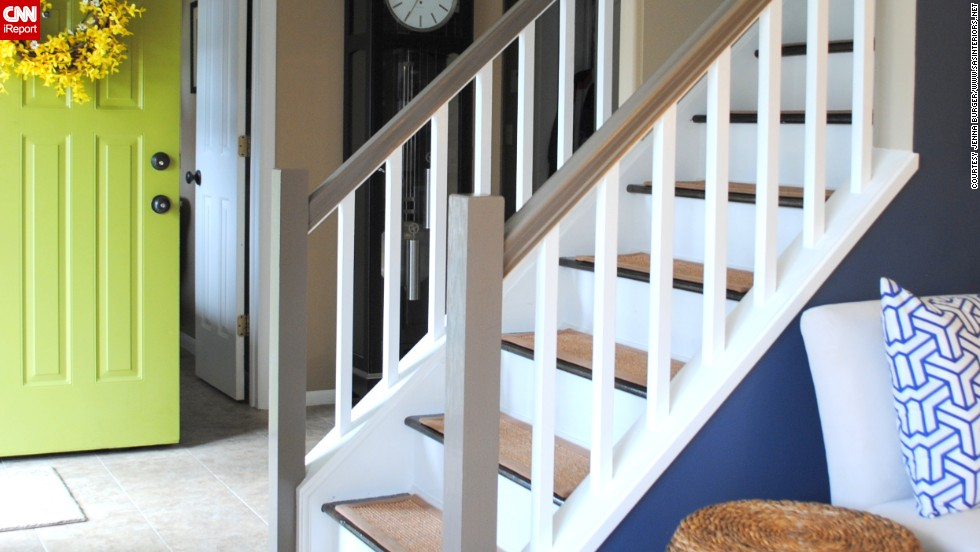 "<a href=""http://ireport.cnn.com/docs/DOC-992199"">Jenna Burger's</a> Saratoga Springs, New York home had dated carpet on the stairs that she could not stand. But now that the staircase is redecorated, she often thinks about what it took to make it the way she wanted it."