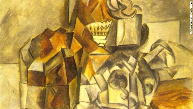 "The private sale of ""Compotier et tasse,"" a 1909 work by Pablo Picasso, was halted by the U.S. government."