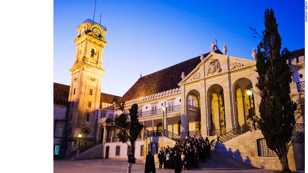 "The historic University of Coimbra has evolved over more than seven centuries. Among many notable university buildings are the 12th-century Cathedral of Santa Cruz and a number of 16th-century colleges,  the Royal Palace of Alcáçova and University Press, as well as the large ""University City"" created during the 1940s."