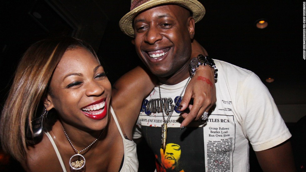 Kweli, pictured with his wife, DJ Eque, in 2009, says his two children listen to hip-hop, so he feels a responsibility to rap about more positive things to provide balance to the music genre's mainstream messages.