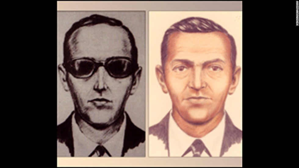 "This FBI sketch shows one of America's most famous skyjackers, a man called ""D.B. Cooper"" who bailed out of a Boeing 727 in 1971 and vanished with $200,000 in ransom. He has never been caught."