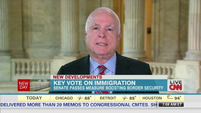 McCain: Immigration bill is strong