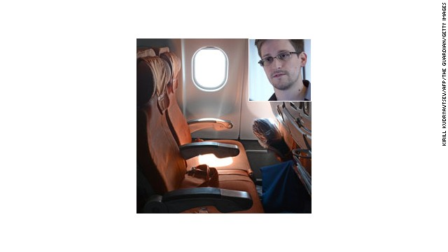 A picture taken in Moscow Sheremetyevo airport aboard a plane of Aeroflot flight from Moscow to Havana on June 24, 2013, shows the empty window seat 17A, which fugitive US intelligence leaker Edward Snowden was scheduled to occupy according to Aeroflot's flight records.But like a twist from a Hollywood spy thriller, the main protagonist never showed up and the supporting cast -- dozens of journalists including AFP correspondents packed onto the aircraft -- were left chasing shadows. AFP PHOTO / KIRILL KUDRYAVTSEV (Photo credit should read KIRILL KUDRYAVTSEV/AFP/Getty Images)