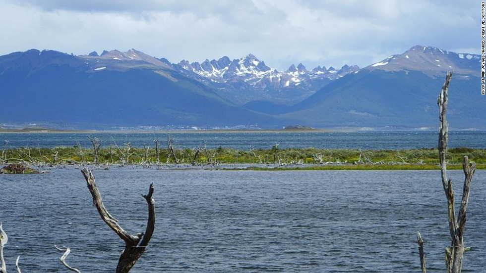 "In fierce competition with Ushuaia for title of ""end of the world,"" Navarino is remote, wild and beautiful. It's a grail for backpackers, who go for a five-day circuit through dramatic landscapes of Chilean fjords, glaciers, unspoiled forests and towering granite needles."