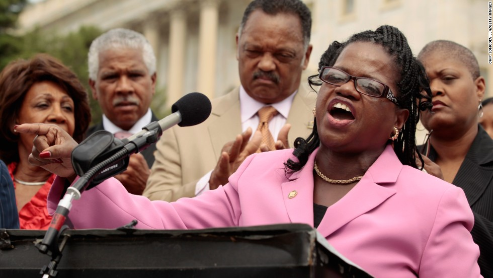 Lawyers' Committee for Civil Rights Under Law Executive Director Barbara Arnwine speaks during a news conference to voice opposition to state photo ID voter laws with the Rev. Jesse Jackson and members of Congress at the U.S. Capitol July 13, 2011.