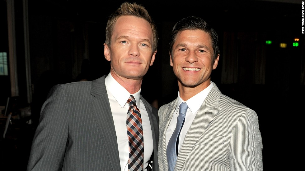 """How I Met Your Mother"" star Neil Patrick Harris, left, and David Burtka  married in Italy in September 2014. The couple, who are parents of twins Gideon Scott and Harper Grace, announced their engagement in 2011."