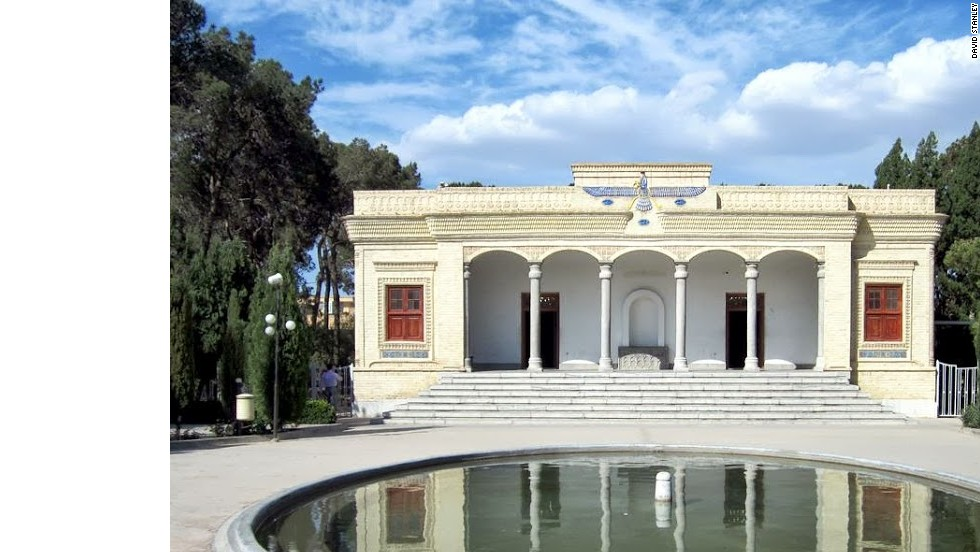 A functioning Zoroastrian Fire Temple or Ateshkadeh in Yazd, Iran.
