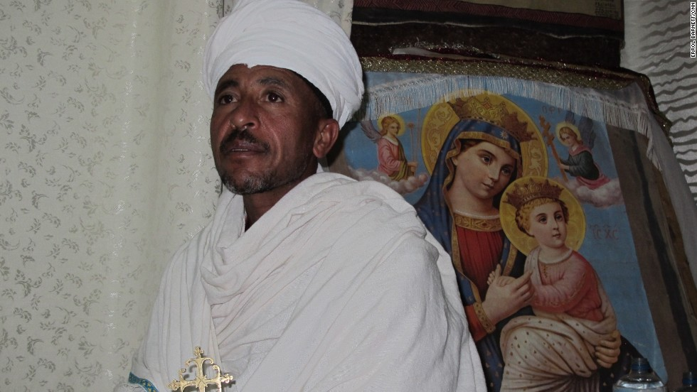 A local priest assigned to the House of Emmanuel, one of Lalibela's churches.