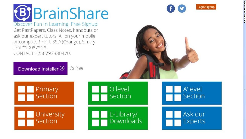 "Michelle Atagana has selected 10 exciting African tech startups:<br />""<a href=""http://brainshare.ug"" target=""_blank""><strong>BrainShare</a></strong> is a social-education app that aims to connect people across Uganda, and the world, through education. <br />""It is an online classroom that helps people study while networking, and combines real-time collaboration, note sharing and tutoring across a number of platforms."""