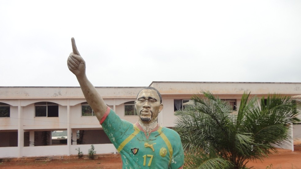 Back in Cameroon, the $10 million sports complex Foe started is in need of repair -- even the statue of the great midfielder.
